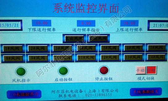 变频控制系统各工位实时运行图